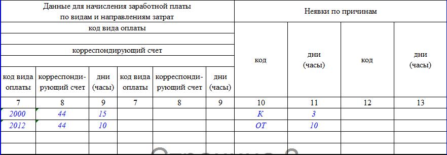 Унифицированная форма т 13