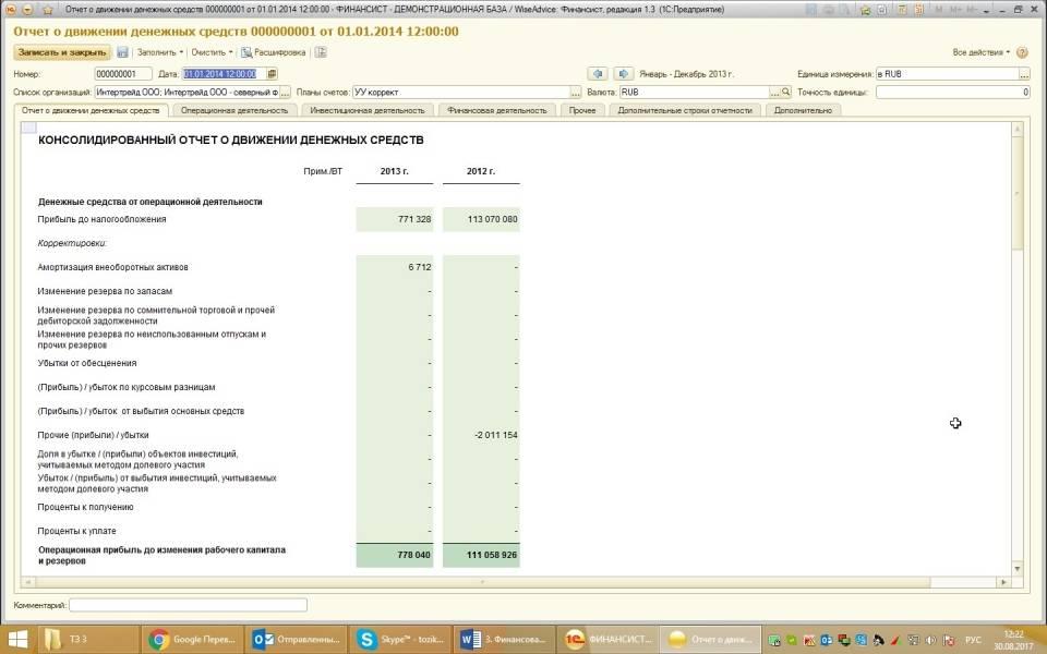 Документы финансовой отчетности
