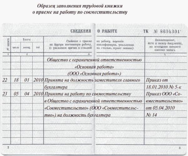 При приеме на работу оформляются следующие документы