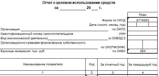 Форма 4 бухгалтерской отчетности